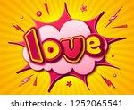 creative comic poster.... | Shutterstock .eps vector #1252065541