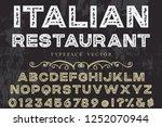 vintage font typeface vector 3d ... | Shutterstock .eps vector #1252070944