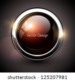elegant shiny button with... | Shutterstock .eps vector #125207981