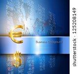business background 3d blue ... | Shutterstock .eps vector #125208149