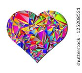 abstract colorful heart for... | Shutterstock .eps vector #125208521