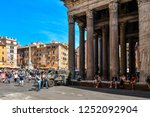 rome  italy   september 30 2018 ... | Shutterstock . vector #1252092904