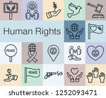 human rights day | Shutterstock .eps vector #1252093471