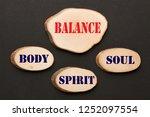 body spirit soul balance... | Shutterstock . vector #1252097554