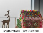 ginger bread house with... | Shutterstock . vector #1252105201
