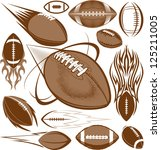 football collection | Shutterstock .eps vector #125211005