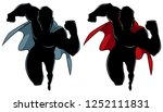 silhouette front view of... | Shutterstock .eps vector #1252111831