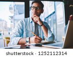 thoughtful hindu student...   Shutterstock . vector #1252112314