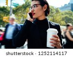 serious woman in trendy... | Shutterstock . vector #1252114117