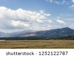 scenic mountains  blue sky with ...   Shutterstock . vector #1252122787