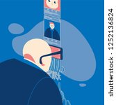 man using smartphone as a... | Shutterstock .eps vector #1252136824