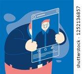 social media concept with user... | Shutterstock .eps vector #1252136857