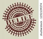 red belief rubber grunge stamp | Shutterstock .eps vector #1252139374