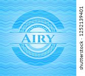 airy water wave badge. | Shutterstock .eps vector #1252139401