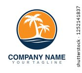 template for logo. san  sea and ... | Shutterstock .eps vector #1252141837