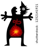 stomach ache boom funny cartoon ...   Shutterstock .eps vector #1252141921