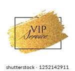 bright golden brush stroke in a ... | Shutterstock . vector #1252142911
