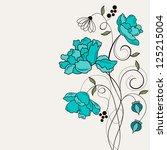 romantic floral background | Shutterstock . vector #125215004