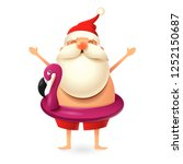 Santa Claus Wearing Flamingo...