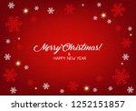 merry christmas background. | Shutterstock .eps vector #1252151857