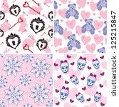 set of seamless patterns for...   Shutterstock .eps vector #125215847
