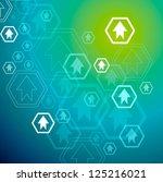 financial graph stat business... | Shutterstock .eps vector #125216021