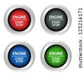 engine start and stop power...   Shutterstock .eps vector #125216171
