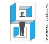 businessman standing in... | Shutterstock .eps vector #1252172797