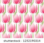 lotus  tulip  water lily...   Shutterstock .eps vector #1252190314