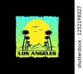 t shirt design of los angeles... | Shutterstock .eps vector #1252198327