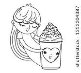 Little Girl With Ice Cream...
