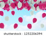 colorful bunch of birthday... | Shutterstock . vector #1252206394