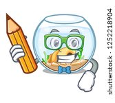 student fishbowl in glass... | Shutterstock .eps vector #1252218904