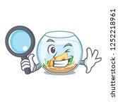 detective fishbowl in glass... | Shutterstock .eps vector #1252218961