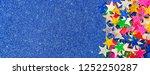 beautiful blue holiday... | Shutterstock . vector #1252250287