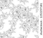 flower print in bright colors.... | Shutterstock .eps vector #1252257181