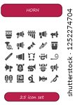 vector icons pack of 25 filled... | Shutterstock .eps vector #1252274704
