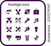 vector icons pack of 16 filled... | Shutterstock .eps vector #1252274767