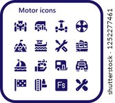 vector icons pack of 16 filled...   Shutterstock .eps vector #1252277461