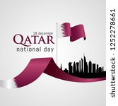 qatar national day celebration... | Shutterstock .eps vector #1252278661