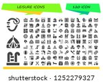 vector icons pack of 120 filled ... | Shutterstock .eps vector #1252279327