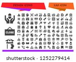 vector icons pack of 120 filled ... | Shutterstock .eps vector #1252279414