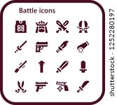 vector icons pack of 16 filled... | Shutterstock .eps vector #1252280197