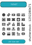vector icons pack of 25 filled... | Shutterstock .eps vector #1252280671