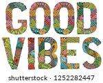hand painted art design. hand...   Shutterstock .eps vector #1252282447