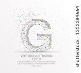 letter g form mesh line and... | Shutterstock .eps vector #1252284664