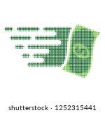 flying dollar banknote halftone ... | Shutterstock .eps vector #1252315441