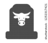 cow cemetery halftone dotted... | Shutterstock .eps vector #1252317421