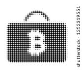 bitcoin case halftone dotted...   Shutterstock .eps vector #1252319551