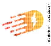 electric strike halftone dotted ... | Shutterstock .eps vector #1252322257